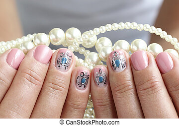 Beautiful nails with art