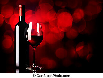 Fortified wine - Fortified red wine on a vinous background