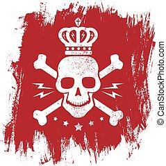 Vintage emblem with skull