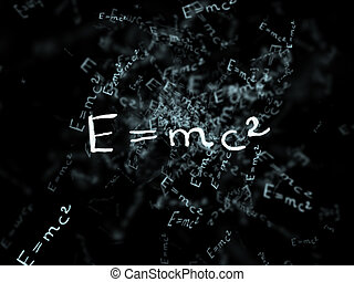 The theory of relativity. Flying formula. Einstein's...