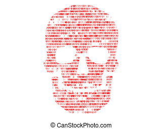 Skull binary code Concept search of malicious code