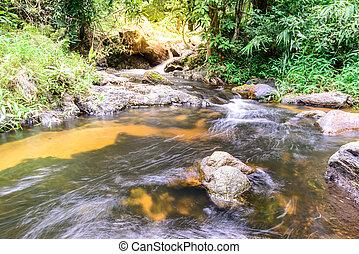 Khlong Lan waterfall in national park, Kamphaeng Phet...