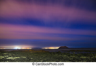 northern Fuerteventura, night shot - northern Fuerteventura,...
