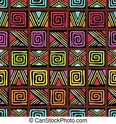 pattern with african ornament