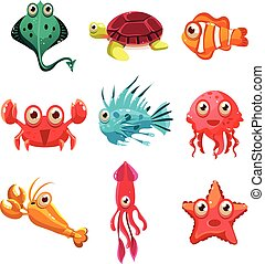 Many species of fish and marine animal life Victor...