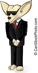 Security Chihuahua - Vector illustration of a guard dog