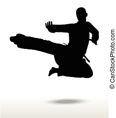 karate silhouette - Vector image - karate silhouette,...
