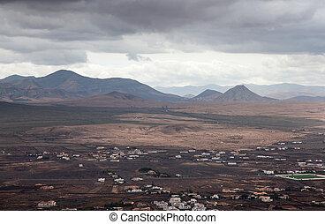 Northern Fuerteventura, overcast day, view towards Mount...