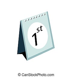 Standing Calendar on A White Background