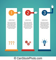 Abstract vector 3 steps infographic