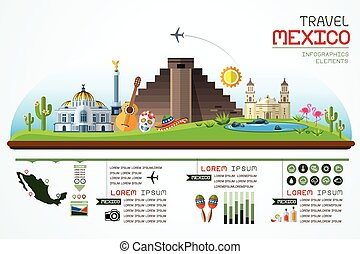 travel and landmark mexico template - Info graphics travel...