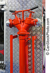 Hydrant - Water Hydrant Pipe With Valves at Fire Truck