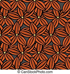 pattern of flowers - creative hand-drawn abstract seamless...