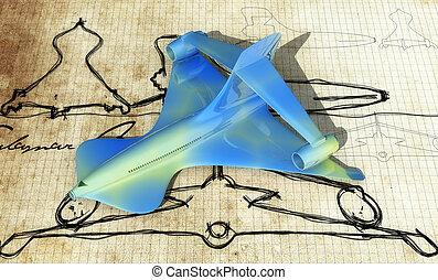 design of a plane - original sketches the design of a plane...