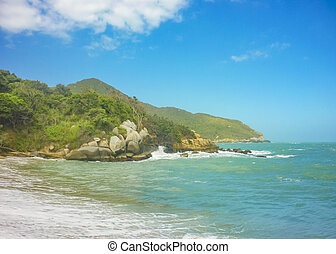 Empty Beach at Tayrona Nation Park Colombia - Empty paradise...
