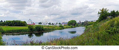 Convent of the Intercession, Suzdal, Russia - Wide Panorama...