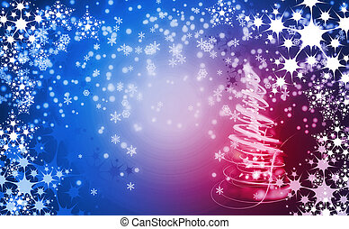 christmas background with snow flakes - very nice christmas...