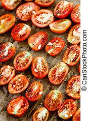 sol, secado, tomates,