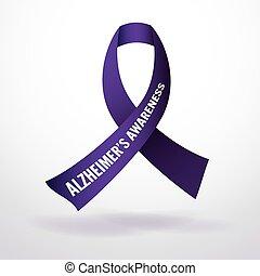 Alzheimer's Disease Awareness Ribbo - Alzheimer's disease...