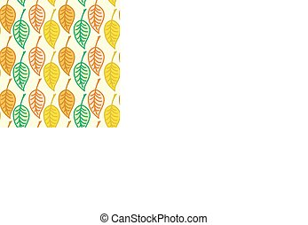 Warm colored seamless autumn leaves pattern