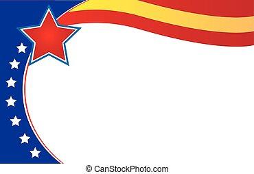 Venezuela Postcard Border flag - Venezuela