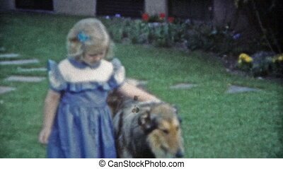 1953: Cute girl playing with her - Unique vintage 8mm film...
