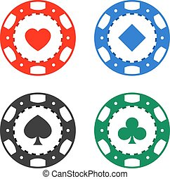 Gambling casino poker chips color set - Gambling casino...