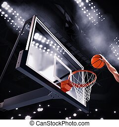 Player basket - Player throws the ball in the basket