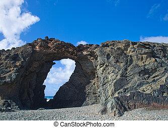 Fuerteventura, Canary Islands, stone arch arco del jurado by...