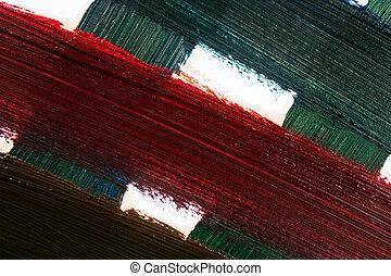 oil paint - close up of different color oil paint