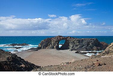 Fuerteventura, Canary Islands, beach playa del jurado by the...