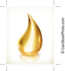 Oil drop icon - Oil drop, icon, isolated on white background
