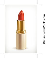 Red lipstick icon - Red lipstick, beauty and make up  icon
