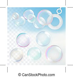 Soap bubbles with transparency