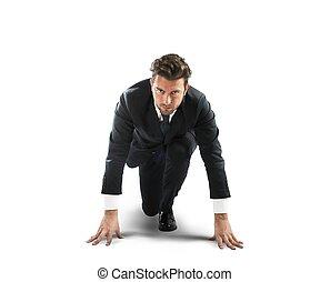 Businessman new challenge