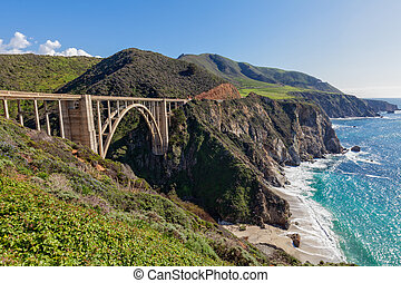 Bixby Bridge Landscape - the bixby bridge on the pacific...
