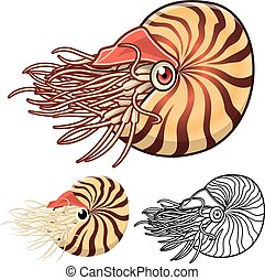 Nautilus Cartoon Character - High Quality Nautilus Cartoon...
