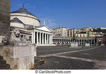 Church of San Francesco di Paola in Naples, Italy - Church...