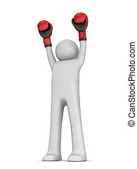 Winner boxer - 3d isolated characters sports series