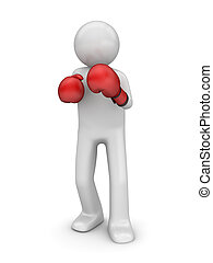 Defending in boxing - 3d isolated characters sports series