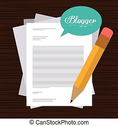 Blogger design - Blogger digital design, vector illustration...