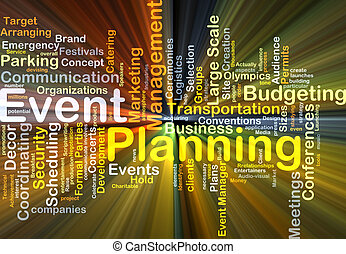 Event planning background concept glowing - Background...