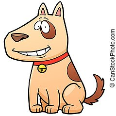 Dog - Illustration of Cartoon Dog