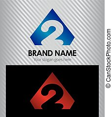 Logo number 2 company two icon