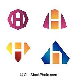 Set of letter H, such h logo