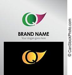 Q letter Eco logo