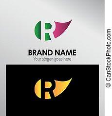 R letter Eco logo