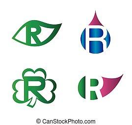 Letter R Logo vector alphabet
