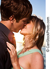 Romantic couple in love - A romantic caucasian couple in...