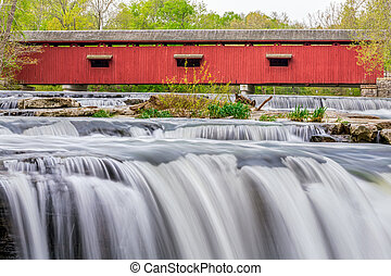 Cataract Covered Bridge crosses Owen County, Indiana's Mill...